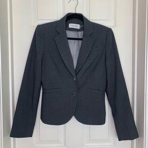 Calvin Klein Lined Jacket/Blazer (Grey)